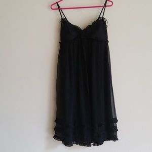 Black Silk Baby-Doll Dress